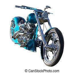 costumbre, construido, moto