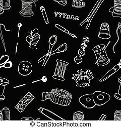 costura, seamless, kit, patrón