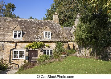 Cotswold chalets, Snowshill, Gloucestershire, Inglaterra