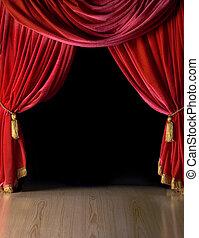 courtains, teatro