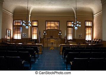 courtroom, vacío