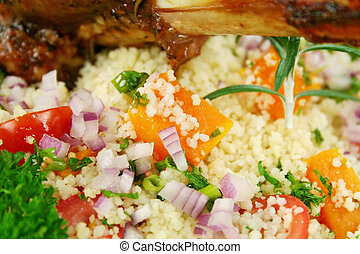 couscous, vegetales