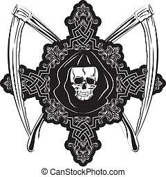 Cráneo en cruz