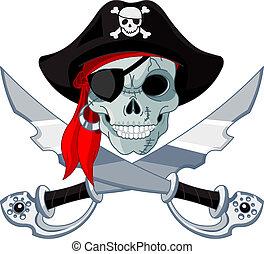 cráneo, pirata