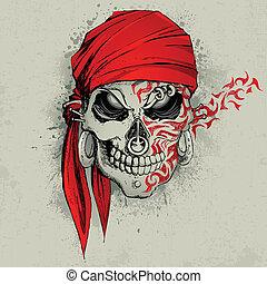 cráneo, plano de fondo