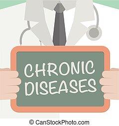 crónico, médico, tabla, enfermedades