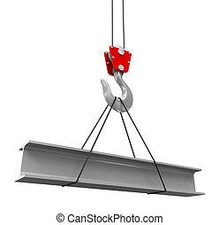Crane levanta un nuevo rayo de techo