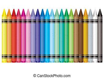 Crayón del arco iris