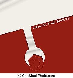 Creativo pancarta salud y seguridad