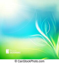 crecer, luz del sol, planta de semillero