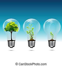 crecer, verde, tecnología