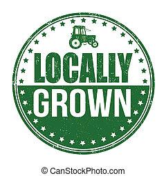 crecido, estampilla, locally
