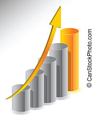 crecimiento, diseño, ilustración negocio