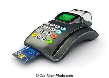credito, 3d, tarjeta, pos-terminal