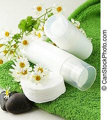 Crema cosmética: cuidados faciales orgánicos