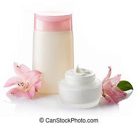 Crema cosmética y loción