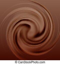 Crema de chocolate remolino