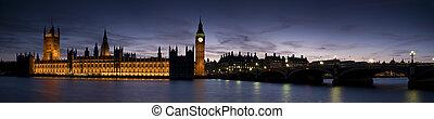 crepúsculo, casas, parlamento, -, xxl