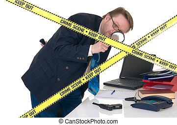 crimen, csi, escena, investigador