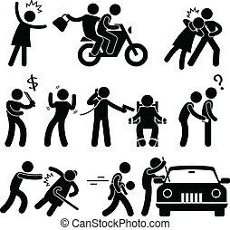 criminal, ladrón, ladrón, secuestrador