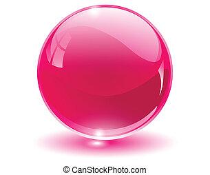 Cristal 3D, esfera de cristal
