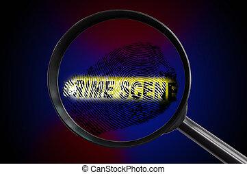 Cristal de la escena del crimen