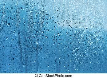cristal del agua, gotas