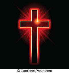 cristiano, símbolo, crucifijo