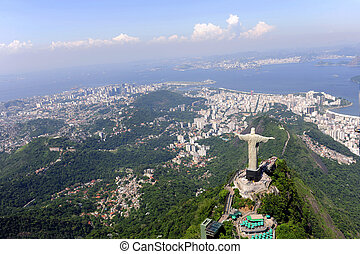 Cristo Redentor y dulce en Rio de Janeiro