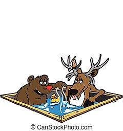 Critters de bañera caliente