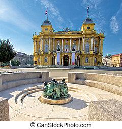 croata, teatro, nationa, zagreb