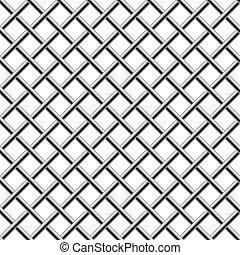 Cromo sin semen, grillo diagonal aislado en blanco.