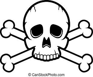 crossbones de cráneo