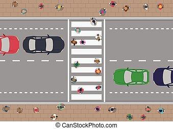 crosswalk, gente