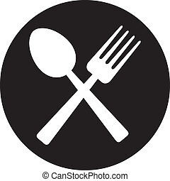 Crucé tenedor y cuchara