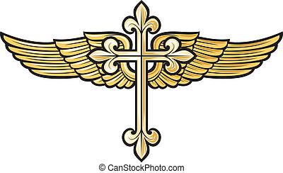 Cruce cristiano con ala
