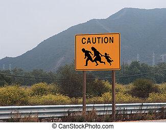 Cruce de inmigrantes