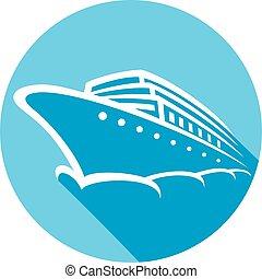 Crucero de icono plano