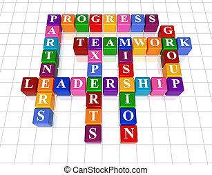 Crucigrama 21, liderazgo
