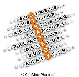Crucigrama de estrategia de negocios