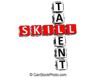 crucigrama, habilidad, talento