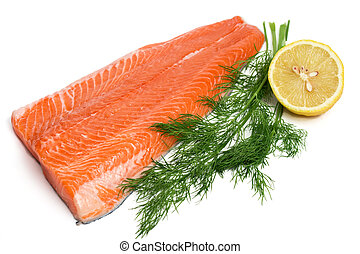 crudo, salmón