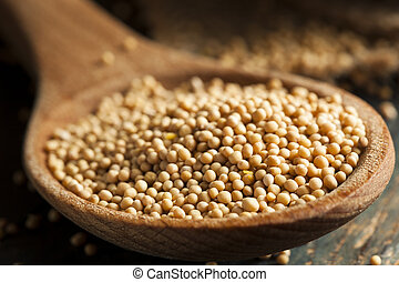 crudo, semillas, orgánico, mostaza