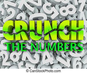 crujido, palabras, número, impuestos, números, plano de fondo, contabilidad
