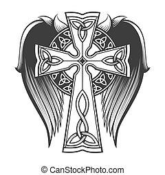 cruz céltica, alas