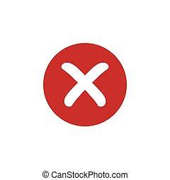 cruz roja, rechazado