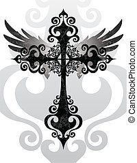 Cruz y alas