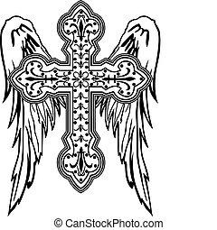 Cruza con diseño tribal