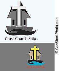 Cruza el barco de la iglesia
