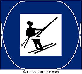 Cruza el campo de esquí